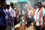 VIDEO: बालाघाट में जलाई गई चीनी उत्पादों की होली