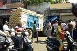 भीलवाड़ा में ट्रैक्टर दुकान में घुसा, बाल-बाल बचा युवक