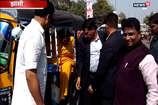 झांसी की सड़कों पर ऑटो से घूमने निकलीं उमा भारती, चुनाव लड़ने के कयास तेज