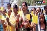 VIDEO: मजदूरों का पैसा लेकर भागे आरोपी के खिलाफ कलेक्टर कार्यालय के बाहर प्रदर्शन