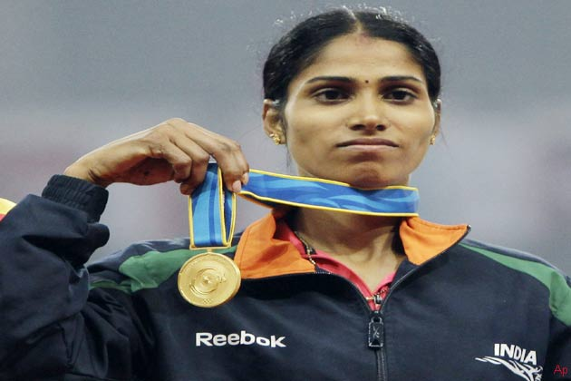 भारत की महिला धावक सुधा सिंह ने 16वें एशियाई खेलों की 3000 मीटर स्टेपलचेज स्पर्धा में रविवार को देश के लिए तीसरा स्वर्ण जीता।