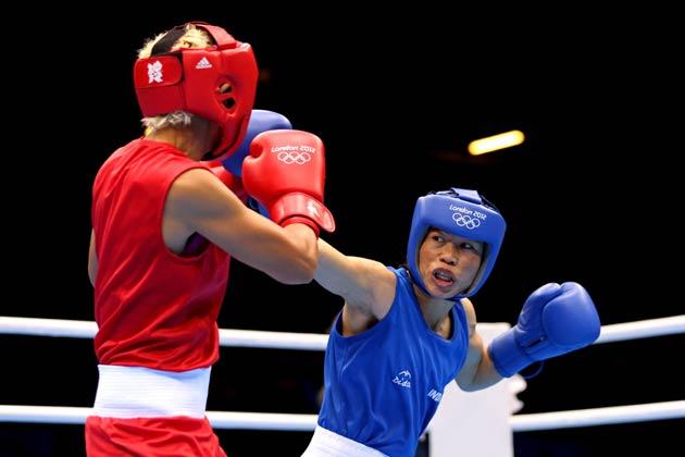 भारत की महिला मुक्केबाज एम सी मैरीकॉम ने लंदन ओलम्पिक की मुक्केबाजी प्रतियोगिता के 51 किलोग्राम भार वर्ग के सेमीफाइनल में पहुंच गई हैं।