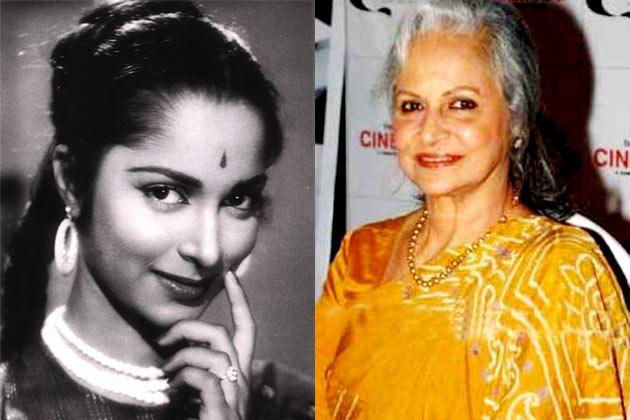 वहीदा रहमान बॉलीवुड की पार्टियों में अक्सर दिखाई देती हैं। वे कुछ साल पहले दिल्ली-6 में नजर आई थीं।