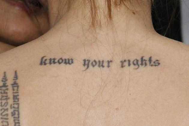 न्यूयॉर्क में 2007 में माइटी हर्ट के समय उनके टैटू दिखे थे।