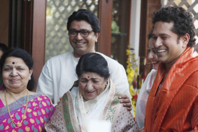 मुंबई में एमएनएस ने अपना निर्माण दिवस राज ठाकरे के घर पर मनाया। इस कार्यक्रम में भारत रत्न सचिन तेंदुलकर और लता मंगेशकर भी शामिल हुए। भारत रत्न से सम्मानित किए जाने के बाद पहली बार सचिन तेंदुलकर और दिग्गज गायिका लता मंगेशकर ने राज ठाकरे के निवास पर एक समारोह के दौरान मुलाकात की। <b><h5 class=