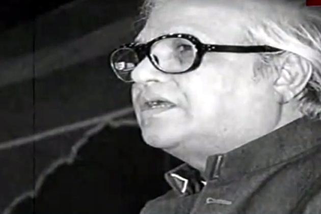 उर्दू कवि और गीतकार मजरूह सुल्तानपुरी।