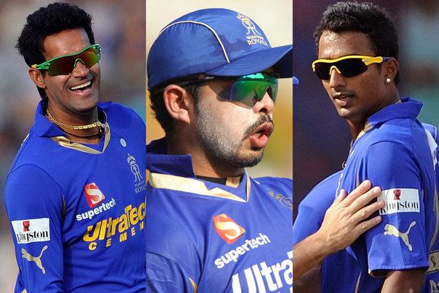 <b>16 मई 2013---</b><br />आईपीएल 6 में 16 मई 2013 राजस्थान रॉयल्स के तीन खिलाड़ी स्पॉट फिक्सिंग में फंस गए। ये खिलाड़ी हैं- एस श्रीसंत, अजीत चंडीला और अंकित चावन। मामला अब तक अदालत में पेंडिंग है और तीनों खिलाड़ियों को खेलने का मौका नहीं मिला है।