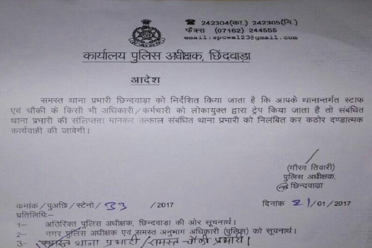Chhindwara SP Order