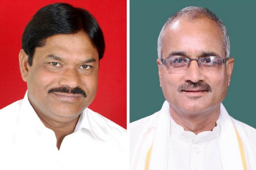 संसद सदस्य मनोहर ऊंटवाल (बाएं) और रोडमल नागर