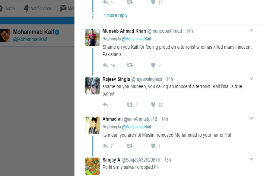 Twitter trolls target Mohammad Kaif and asks to remove Mohammad from name