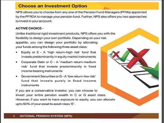 निवेशक के पास 2 विकल्प: एनपीएस में निवेशक के पास 2 विकल्प होते हैं एक्टिव और ऑटो. एक्टिव निवेशक को एसेट क्लास खुद चुनने का हक होता है और एक्टिव निवेशक को 3 तरह के एसेट क्लास दिए जाते हैं. पहला एसेट क्लास ईई क्लास होता है और ईई में पैसा इक्विटी में डाला जाता है. ईई क्लास में 50 पैसे इक्विटी में जाता है. एक्टिव ऑप्शन में निवेश तय योजना के मुताबिक होता है.