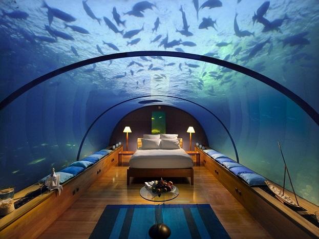 देश-दुनिया के सैर-सपाटे पर निकलने वाले लोग अक्सर होटलों में ठहरते हैं. दुनियाभर में होटल इंडस्ट्री काफी फल-फूल रही है. विश्व में सेवन स्टार और फाइव स्टार होटलों की भरमार है. लेकिन क्या आप जानते हैं कि समंदर के नीचे तैरती मछलियों के बीच भी होटल होते हैं. जहां आप जाकर ठहर सकते हैं और उस अनोखे नजारे का मजा ले सकते हैं. जी हां, यहां हम आपको ऐसे ही पांच होटलों के बारे में बताने जा रहे हैं, जो समुद्र के अंदर बने हुए हैं.