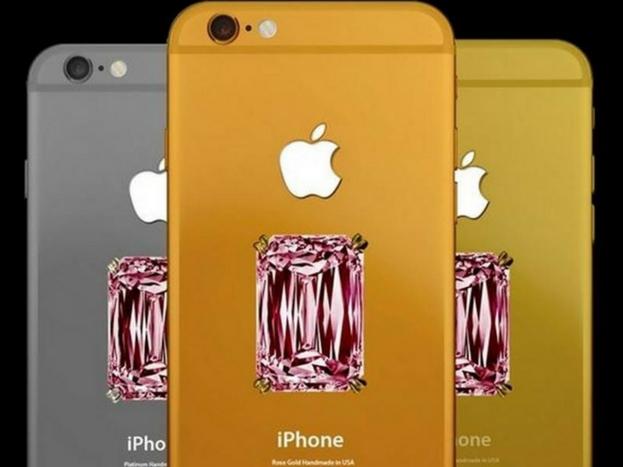 <strong>फालकॉन सुपरनोवा आईफोन 6 प्लस</strong><br />इस स्मार्टफोन के पीछे एक पिंक कलर का हीरा लगा है. इसकी बॉडी 18 कैरेट गोल्ड की है. इस स्मार्टफोन की कीमत करीब 681 करोड़ रुपये है.