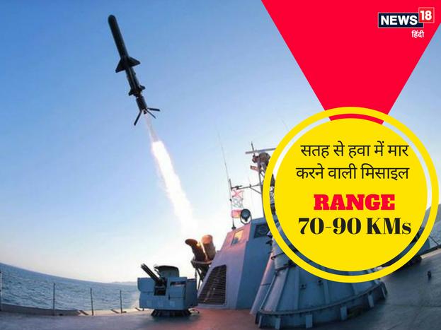 <strong>4. बराक-8 मिसाइल :</strong>ये सतह से हवा में मार करने वाली मिसाइल है. इसका विकास भारत ने इजरायल के साथ मिलकर किया है. बराक-8 मिसाइल की मारक क्षमता 70 से 90 किमी है. 3 टन भारी ये मिसाइल 70 किलोग्राम का भार लेने में सक्षम है. <strong>>> आगे देखिए</strong>
