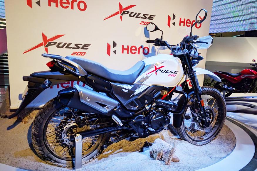 ऑटो एक्सपो में हीरो मोटोकोर्प ने 200सीसी की Hero Xpulse बाइक प्रदर्शित की.(फोटो: News18)