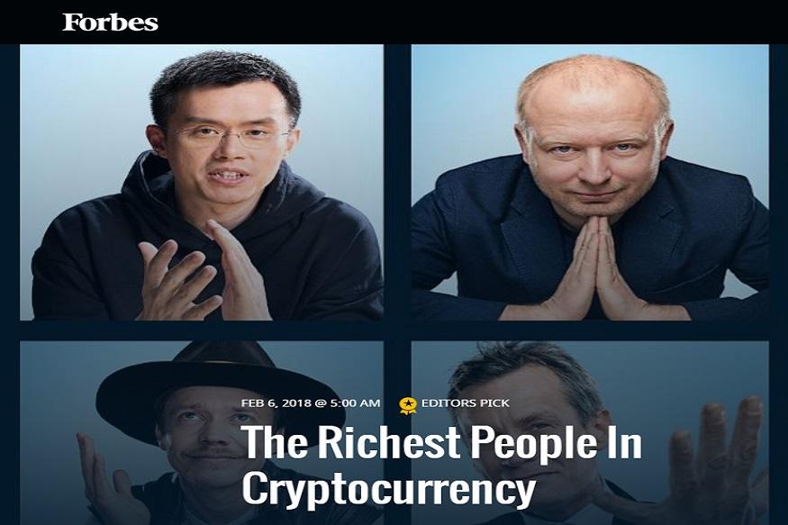 फोर्ब्स ने पहली बार क्रिप्टो करेंसी रखने वाले अमीरों की सूची जारी की है. इस सूची में उन लोगों के नाम हैं जिनके पास मूल्य के हिसाब से करोड़ों अरबों डॉलर की क्रिप्टो करेंसी है. अगली स्लाइड में जानिए कौन है इस लिस्ट में टॉप पर...
