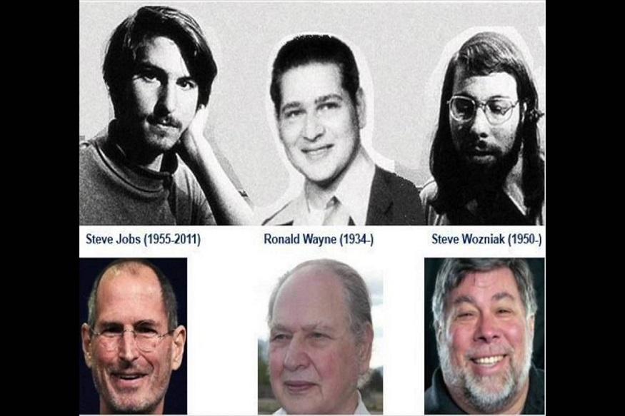 एप्पल की शुरुआत 1 अप्रैल, 1976 को हुई थी. इसे शुरू करने वाले लोगों में स्टीव जॉब्स, स्टीव वॉजनिएक और रोनाल्ड वेन थे. रोनाल्ड वेन उस समय कंपनी के सबसे अनुभवी इंसान थे. 42 साल के रोनाल्ड ने ही एप्पल का पहला लोगो भी डिजाइन किया था. इतना ही नहीं, एप्पल कंपनी का पार्टनरशिप एग्रीमेंट भी रोनाल्ड ने ही बनाया था. एक तरह से देखा जाए तो कंपनी की बुनियाद रोनाल्ड के बलबूते पर खड़ी हुई थी, लेकिन कुछ ऐसा हो गया कि उन्होंने 800 डॉलर में अपने शेयर बेचकर कंपनी छोड़ दी.