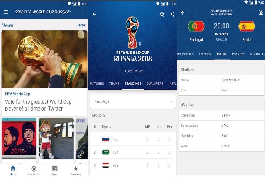 Official FIFA app- अगर आप FIFA के अपडेट्स चाहते हैं तो यह ऐप आपके फोन में होना ही चाहिए. यह एंड्रॉयड और iOS दोनों के लिए फ्री में अवेलेबल है. इस ऐप में सभी टीम, मैच के शेड्यूल, इमेज गैलरी, वीडियो कलेक्शन और मिनट टू मिनट मैच का डिस्क्रिप्शन अवेलेबल है.
