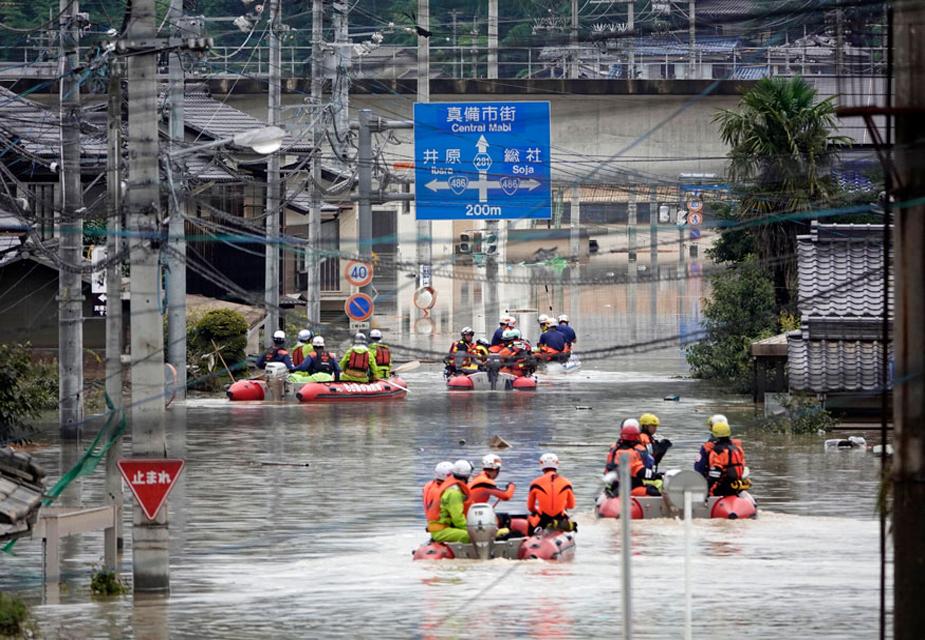 बारिश और भूस्खलन से सबसे ज्यादा हिरोशिमा प्रांत और एहाइम प्रांत के निवासी प्रभावित हुए हैं, जबकि पश्चिमी और दक्षिण-पश्चिमी जापान के फुकुओका, क्योटो, ओकायामा, गिफू, कोचि, शिगा, ह्योगो और यामागुची प्रांतों से भी लोगों के मरने की खबरें हैं.