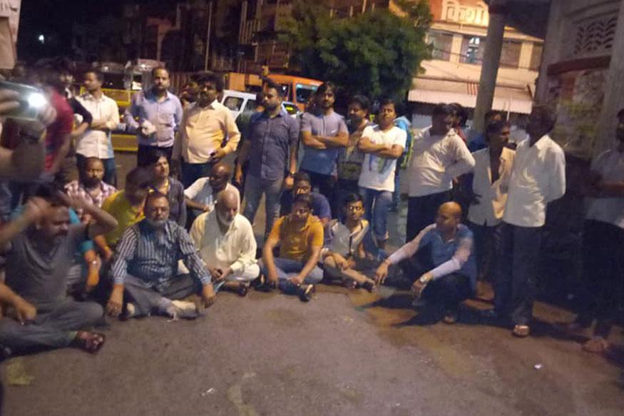 हत्या के विरोध में व्यापारियों ने लगाया जाम