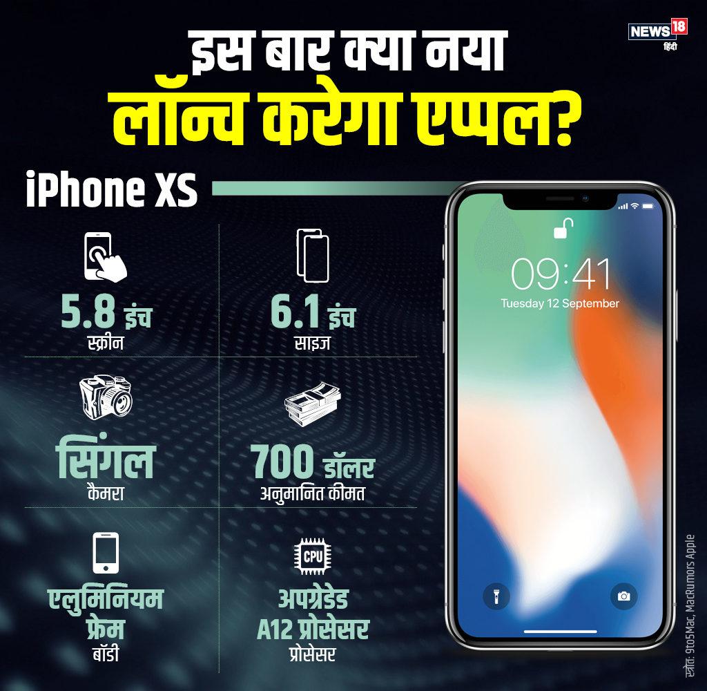 iPhone XS का दूसरा वर्जन एलुमिनियम फ्रेम में हो सकता है. इसकी स्क्रीन LCD टेक्नोलॉजी वाली होगी, जबकि साइज 6.1 इंच होने की संभावना है. ऐसी चर्चा है कि इसमें सिंगल कैमरा मौजूद होगा. दूसरे मॉडल की तुलना में ये सस्ता हो सकता है.