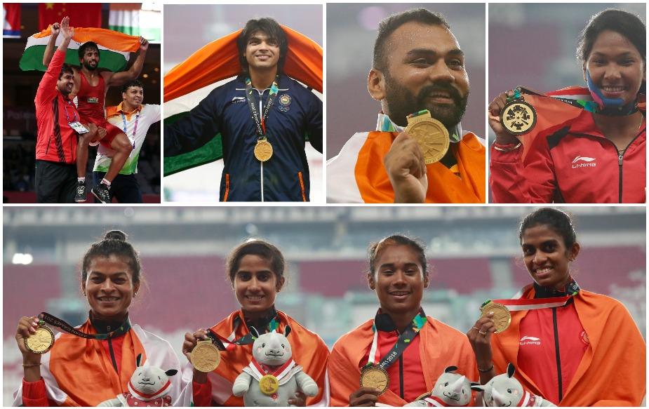 भारत ने 18वें एशियाई खेलों में 15 स्वर्ण, 24 रजत और 30 कांस्य के साथ कुल 69 पदक जीते हैं, जो कि इन खेलों में उसका सबसे अच्छा प्रदर्शन है. जबकि अपनी मेजबानी में हुए पहले संस्करण में भारतीय खिलाड़ियों ने 15 स्वर्ण, 16 रजत और 20 कांस्य के साथ कुल 51 पदक जीतकर तालिका में दूसरा स्थान हासिल किया था. वहीं कुल पदकों के मामले में भी भारत ने 2010 एशियाई खेलों की पीछे छोड़ दिया. तब भारत ने कुल 65 पदक जीते थे. यही नहीं, जकार्ता में भारत के लिए सबसे अधिक 19 पदक (सात स्वर्ण, 10 रजत और दो कांस्य) एथलेटिक्स में आए हैं.
