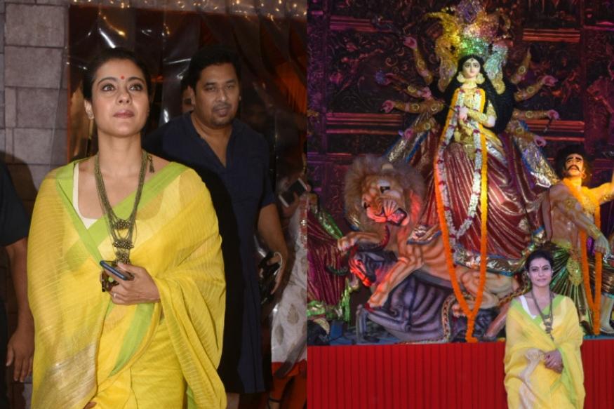 बॉलीवुड एक्ट्रेस काजोल हर साल की तरह इस साल भी दुर्गा पूजा करती नजर आईं. वह दक्षिण मुंबई के पंडाल में माता का दर्शन करने पहुंची. यहां पूजा करते हुए उनकी कई तस्वीरें अब सोशल मीडिया पर वायरल हो रही हैं.