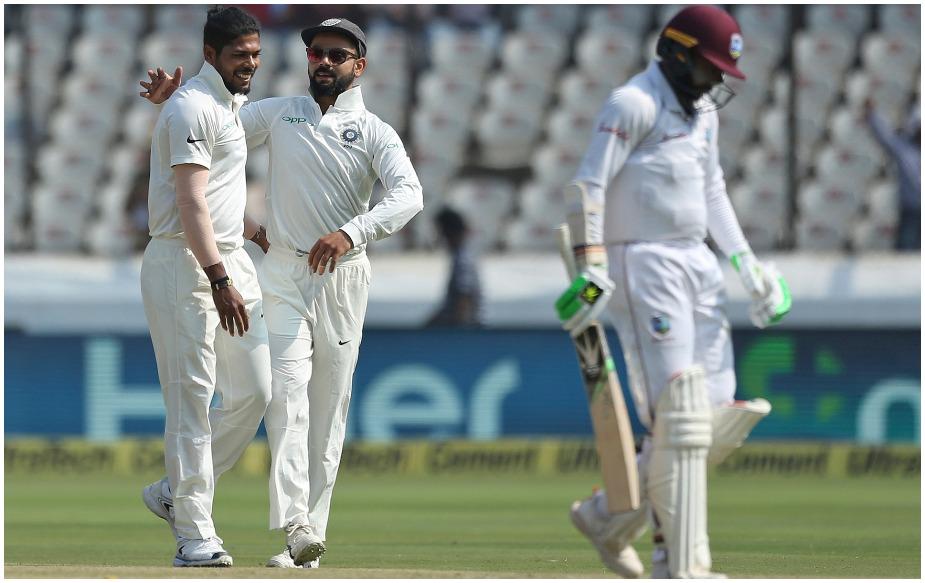 हैदराबाद टेस्ट में टीम इंडिया के पेसर उमेश यादव ने 26.4 ओवर में 88 रन देकर छह विकेट लिए और कैरेयिबाई टीम को पहली पारी में 311 रन पर ढेर कर दिया. उमेश ने इस दौरान कई रिकॉर्ड अपने नाम किए. जानिए...