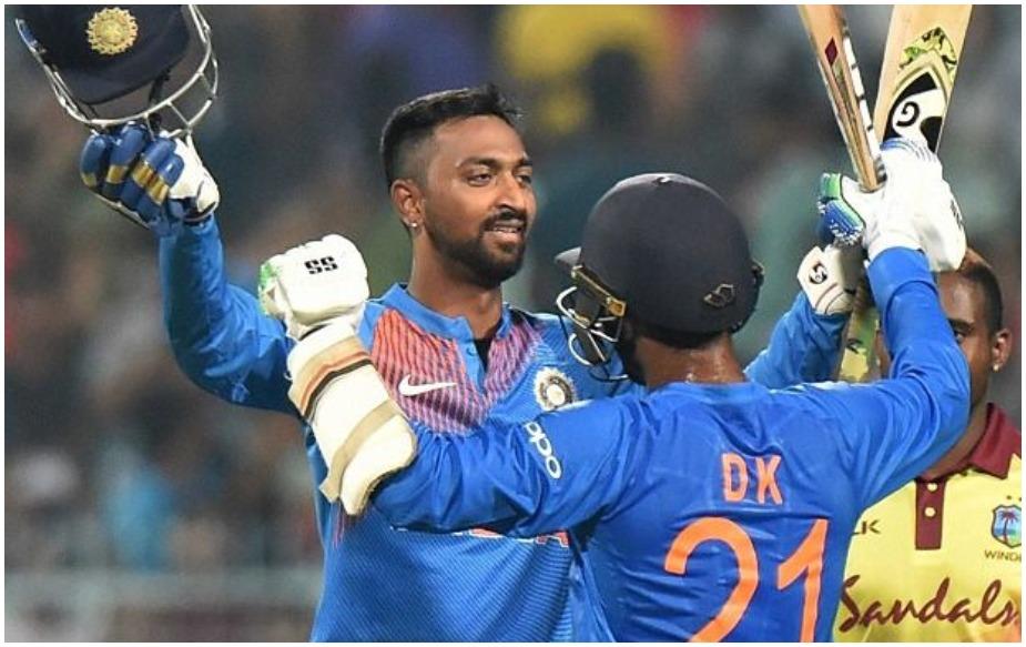 क्रुणाल पांड्या के नाम अभी तक 63 टी20 मैचों में कुल 988 रन हैं. ऐसे में उन्हें अपने 1,000 रन पूरे करने के लिए 12 रन की दरकार है. वैसे मनीष पांडे भी अंतरराष्ट्रीय क्रिकेट में अपने 1,000 रनों के करीब हैं. उनके नाम 974 रन हो चुके हैं.