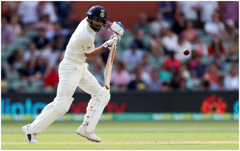 विराट कोहली ने एडिलेड टेस्ट की दूसरी पारी में बतौर बल्लेबाज़ और कप्तान कुछ खास रिकॉर्ड अपने नाम किए हैं. पहली पारी में 3 रन बनाने वाले कोहली ने दूसरी पारी में दम तो दिखाया, लेकिन वह अर्धशतक नहीं बना सके. उन्होंने 104 गेंदों पर तीन चौकों की मदद से 34 रन की पारी खेली. कोहली को नाथन लायन ने एरॉन फिंच के हाथों कैच कराया.