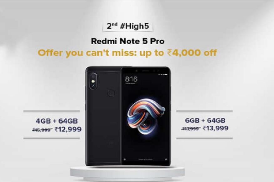 Xiaomi Redmi Note 5 Pro- कंपनी द्वारा की गई कटौती के बाद अब आप Xiaomi Redmi Note 5 Pro के 4GB RAM वाले वैरिएंट को 12,999 और 6GB RAM वाले वैरिएंट को सिर्फ 13,999 रुपये में खरीद सकते हैं.