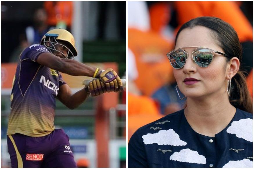 हैदराबाद के खिलाफ आंद्रे रसेल ने दो ही सिक्स लगाए लेकिन वो इतने गजब थे कि सानिया मिर्जा चौंक सी गई. मैच के 19वें ओवर में रसेल ने भुवनेश्वर कुमार की गेंदों पर दो सिक्स लगाए, हालांकि उनकी पारी का अंत इसी ओवर में हुआ.(साभार-आईपीएल)