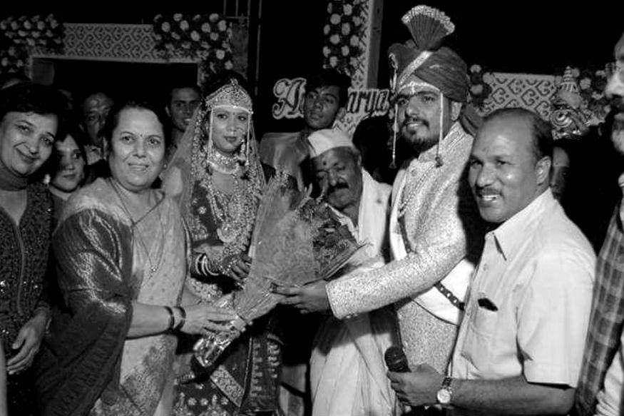 विवेक और ऐश्वर्या तमाईचिकार की शादी की तस्वीर