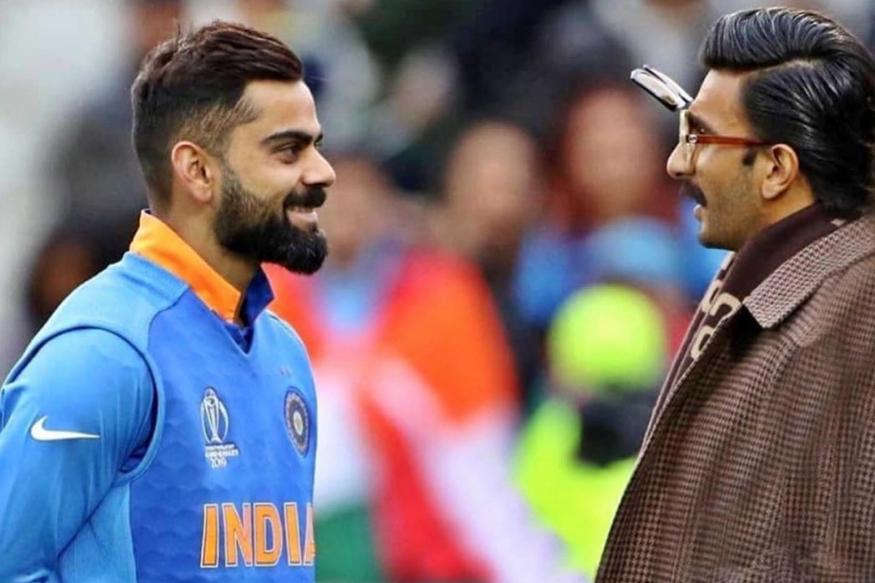 भारत पाकिस्तान मैच के दौरान दोनों टीम और पूरे स्टेडियम से ज्यादा एनर्जी जिसमें थी वोथे रणवीर सिंह. मैच के दौरान उनकी कमेंट्री और सोशल मीडिया पर आई तस्वीरें साफ दिखा रही हैं कि रणवीर सिंह मैदान के अंदर और मैदान के बाहर एक लोडेड गन की तरह घूम रहे थे. उन्होंने वहां सेल्फी लेने और वीडियोज़ बनाने में भी कोई कसर नहीं छोड़ी. विराट कोहली के साथ वह जरा सीरियस बात करते दिखे. गांगुली के साथ वाली तस्वीर देखेंगे तो हंसी रोक नहीं पाएंगे.