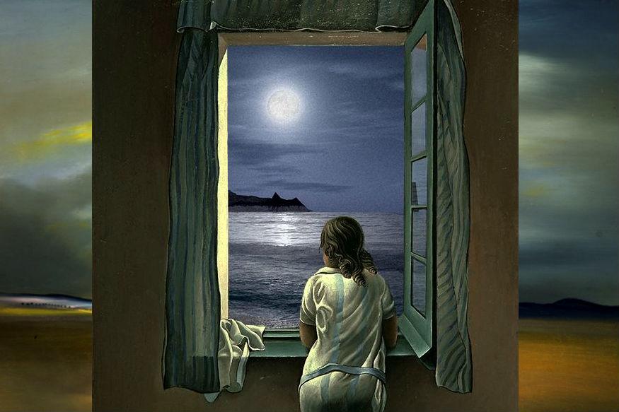 """19वीं सदी के मशहूर स्पेनिश आर्टिस्ट सल्वादोर डाली की पेंटिंग """"द वेट"""""""