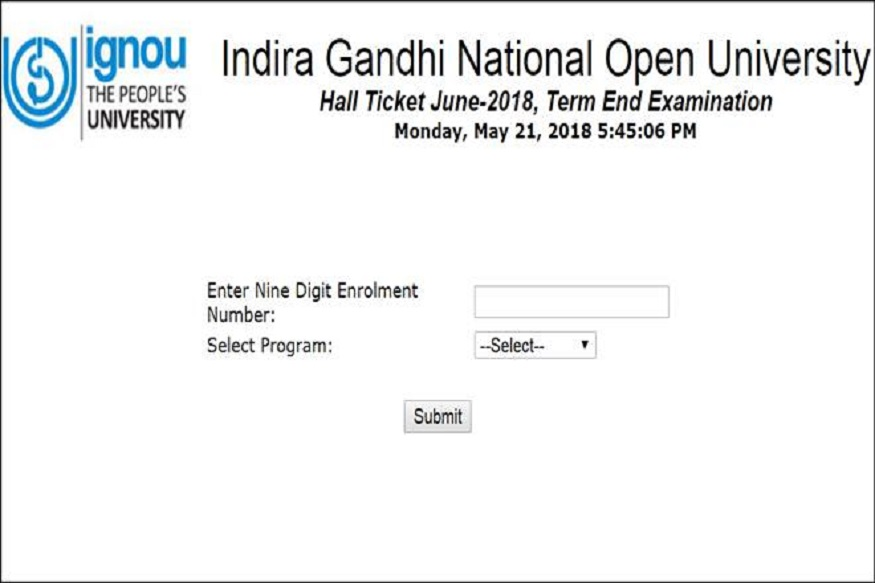 ignou,admit card