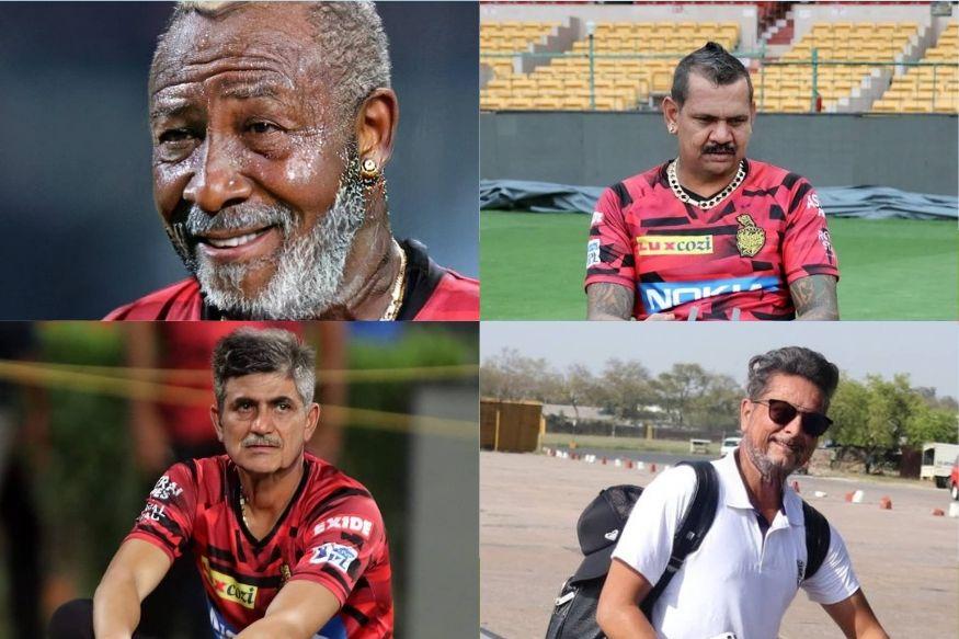 कोलकाता नाइट राइडर्स ने भी टीम के खिलाड़ियों की फेस ऐप तस्वीरें शेयर की जिसमें आंद्रे रसेल, सुनील नरायण, शुभमन गिल और कुलदीप यादव का बुढापे का अंदाज दिखा. (twitter)