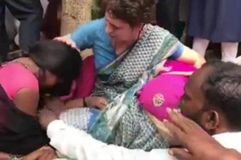 सोनभद्र नरसंहार में मारे गए लोगों के परिजनों से मिलने पर कांग्रेस महासचिव प्रियंका गांधी वाड्रा भावुक हो गईं.