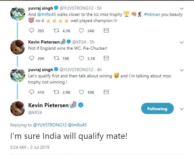 केविन पीटरसन और युवराज सिंह की ट्विटर वॉर