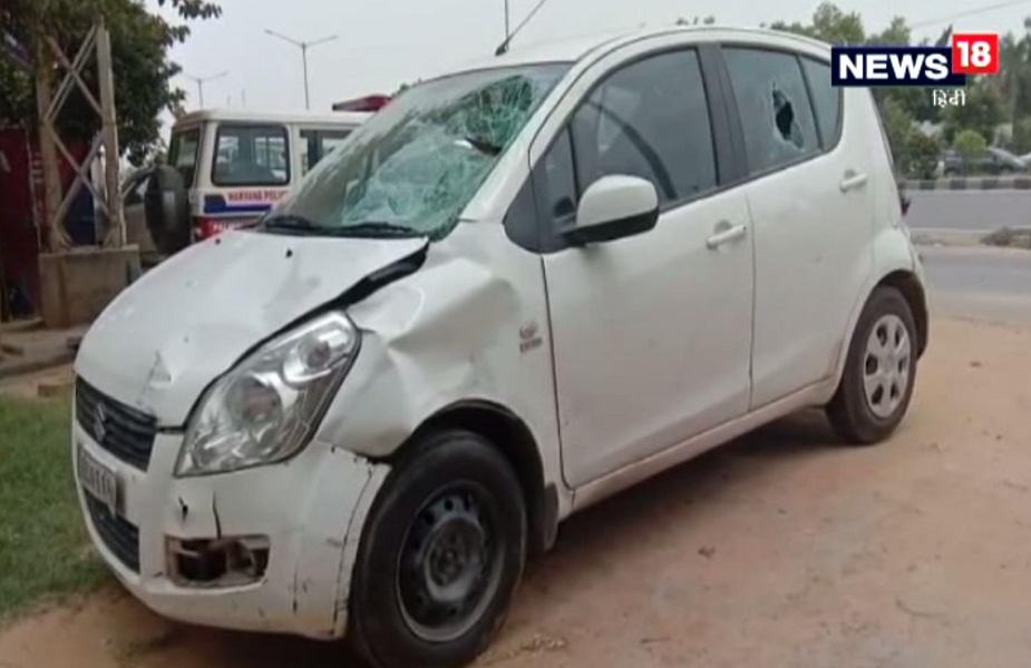 पुलिस ने मौके से कार को किया जब्त, आरोपी चालक मौक से हुआ फरार