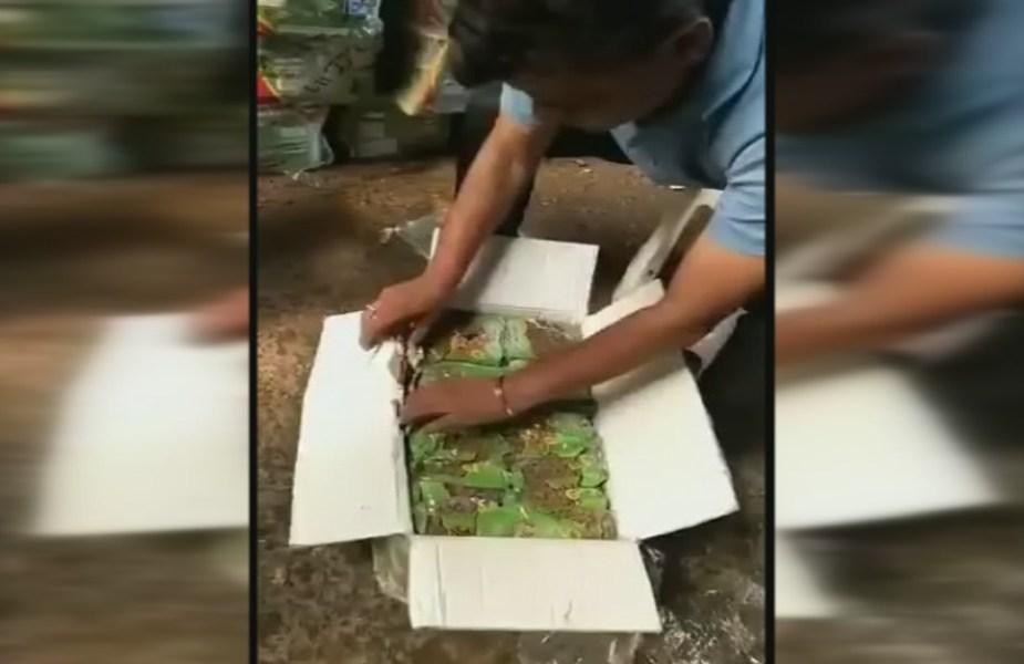 किशमिश के डिब्बों में छुपाकर ले जाई जा रही 50 किलोग्राम हेरोइन