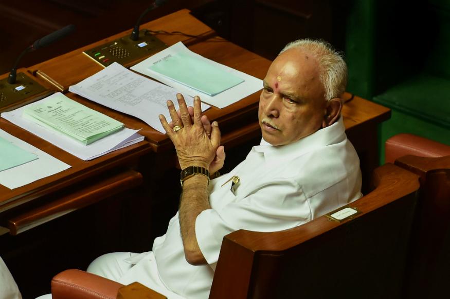 Former Karnataka chief minister and BJP State President BS Yeddyurappa on Thursday. (PTI)