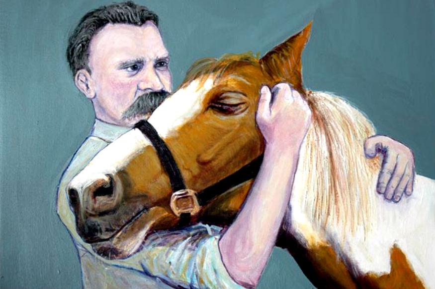 ब्रिटिश चित्रकार एरिक द्रास की पेंटिंग 'नीत्शे एंड हॉर्स'