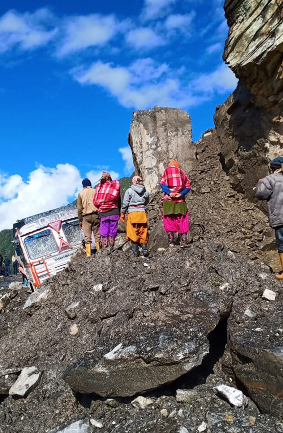 Landslide in Manali