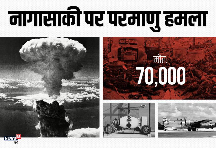 जापान के नागासाकी पर हुए इस हमले में 70 हजार से ज्यादा लोगों ने अपनी जान गंवाई थी.