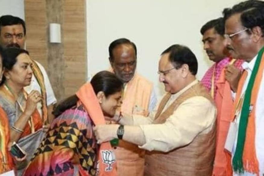 धनंजय सिंह की पत्नी श्रीकला रेड्डी बीजेपी में हुई शामिल
