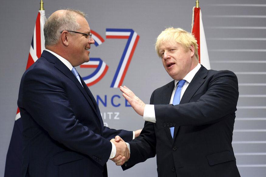 g7 meeting, Boris Johnson,Narendra Modi,Scott Morrison,England vs Australia,Ben Stokes, जी7, नरेंद्र मोदी, बोरिस जॉनसन, स्कॉट मॉरिसन, एशेज सीरीज, इंग्लैंड ऑस्ट्रेलिया, बेन स्टोक्स