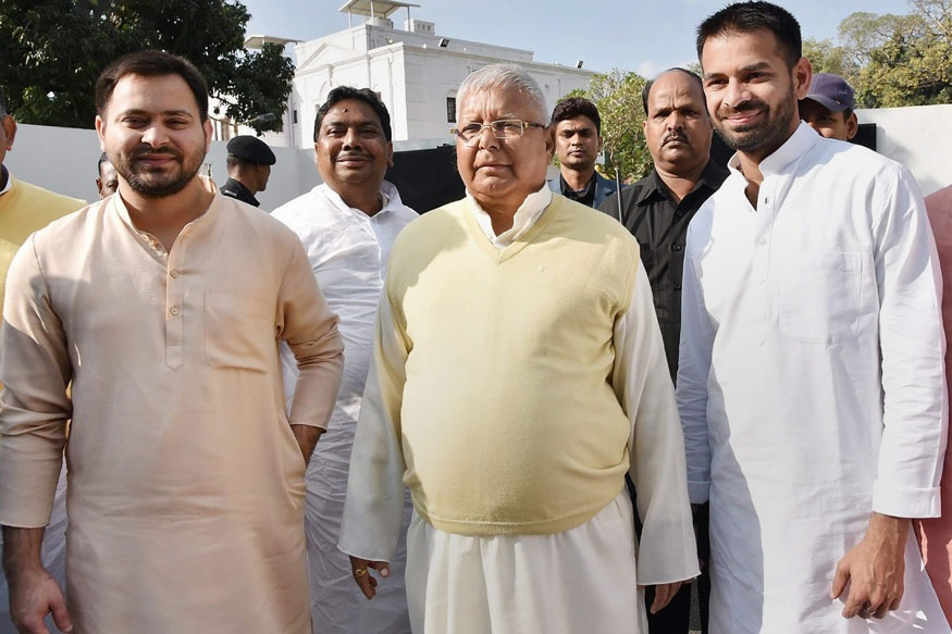 lalu with both sons