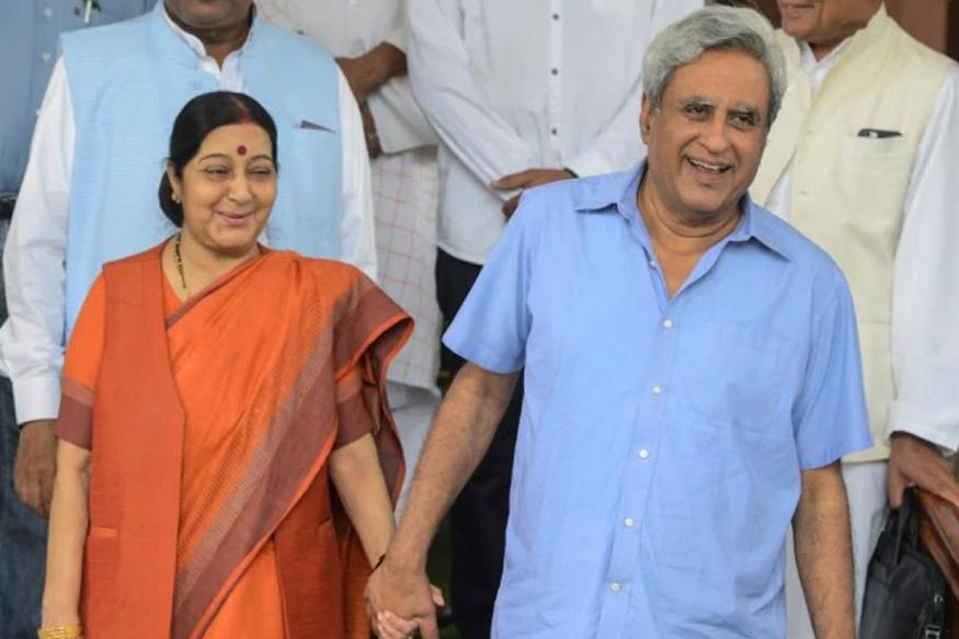 sushma swaraj husband