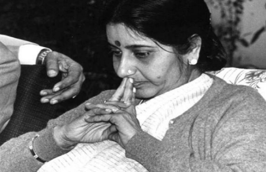 हरियाणा की यंगेस्ट मिनिस्टर बनने का खिताब सुषमा स्वराज के नाम (फाइल फोटो)-sushma swaraj news, sushma swaraj death, sushma swaraj latest, sushma swaraj latest news